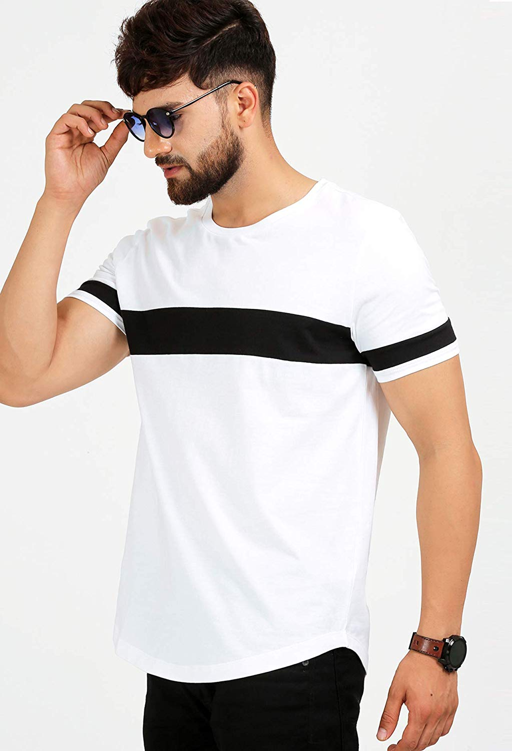2f33d80e8 ₹1,499.00 ₹499.00. ₹10.00 Cashback. 100% Cotton premium fabric, Plain white  and black; Half Sleeves, Round neck; Regular fit, Casual T-Shirt ...